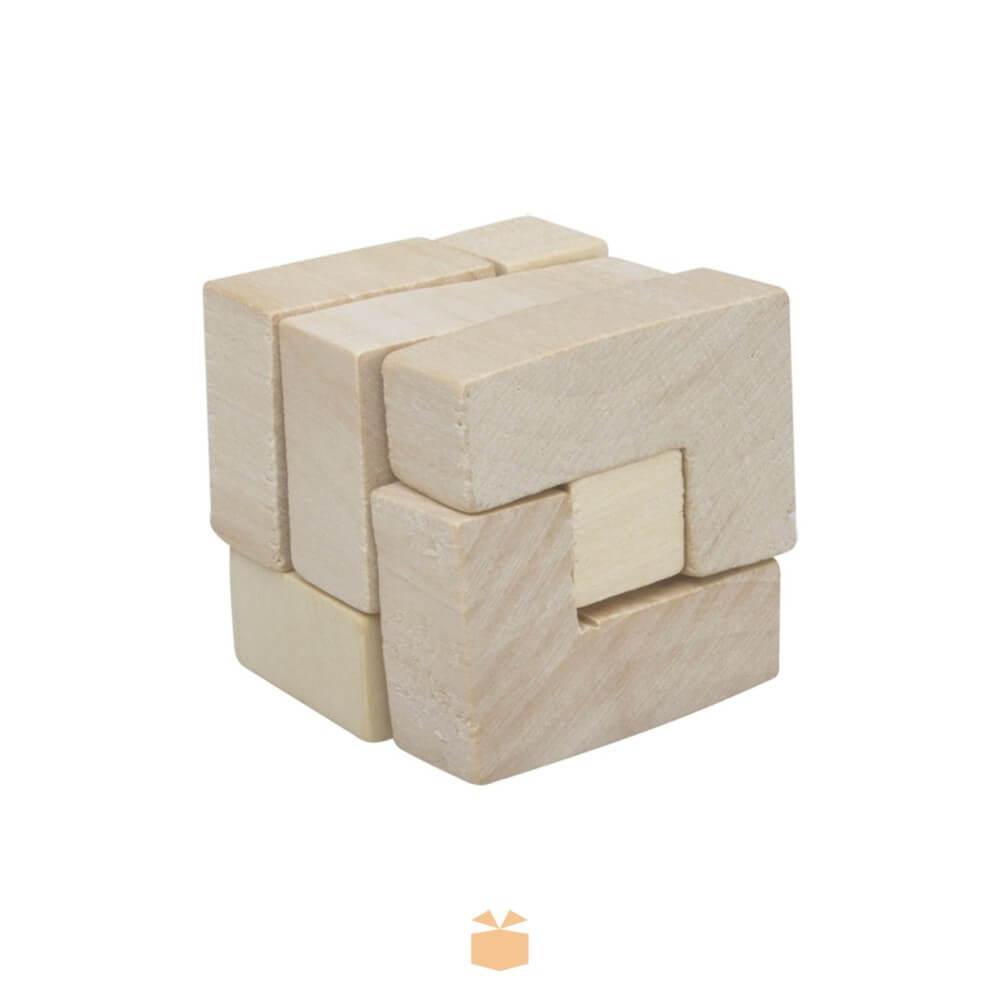 Drewniane puzzle w bawełnianym woreczku