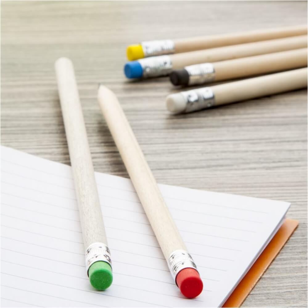 Ołówek z kolorowymi gumkami
