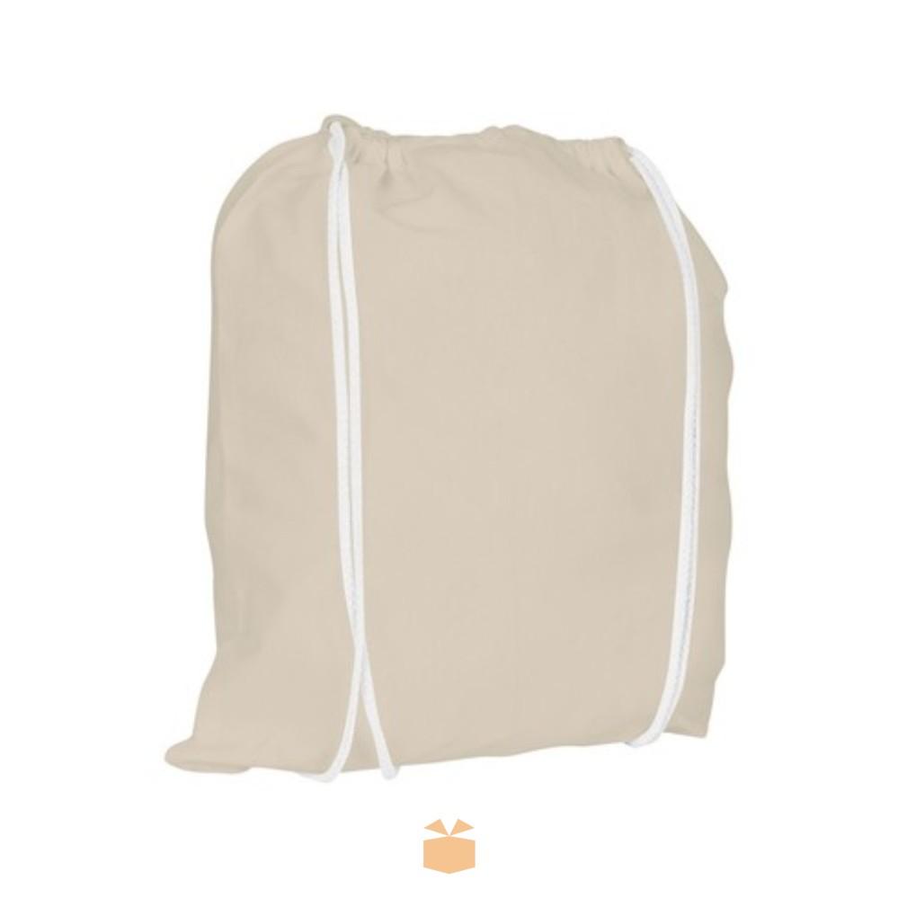 Bawełniany worek ze sznurkiem z logo