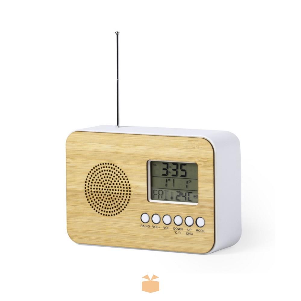 Zegar Radio z logo firmy